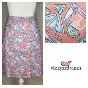 Vineyard Vines Pink Lemonade Skirt Size 10